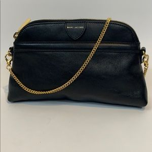 Mini Marc Jacobs clutch handbag black leather